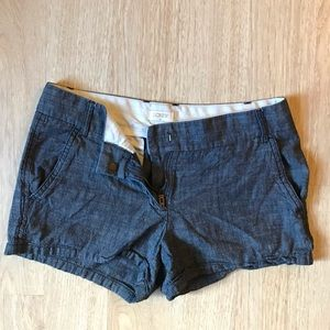 J Crew Heathered Blue Shorts Size 2